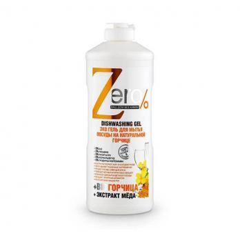 Zero Гель для мытья посуды на натуральной горчице 500мл